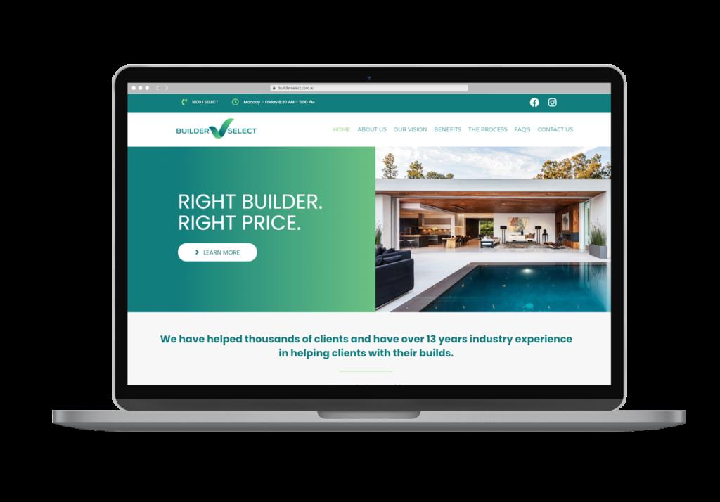 Builder Select Website Design Desktop View By Rogue Web Design