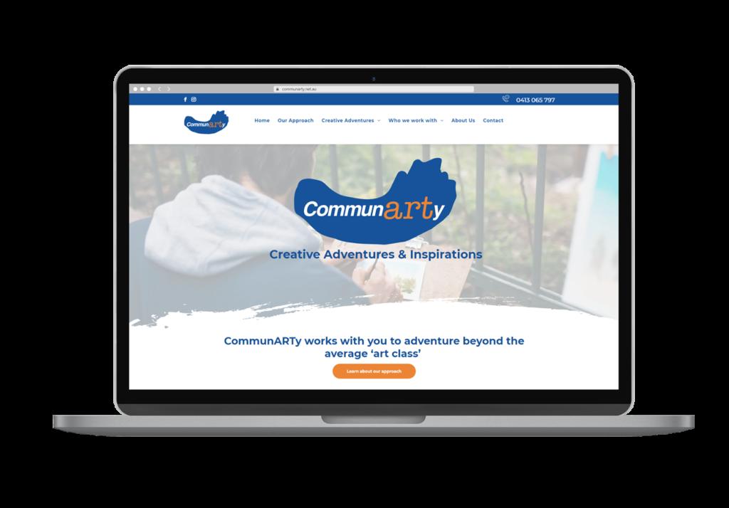 Communarty Creative Adventures & Inspirations Brisbane Laptop Layout Design By Rogue Web Design