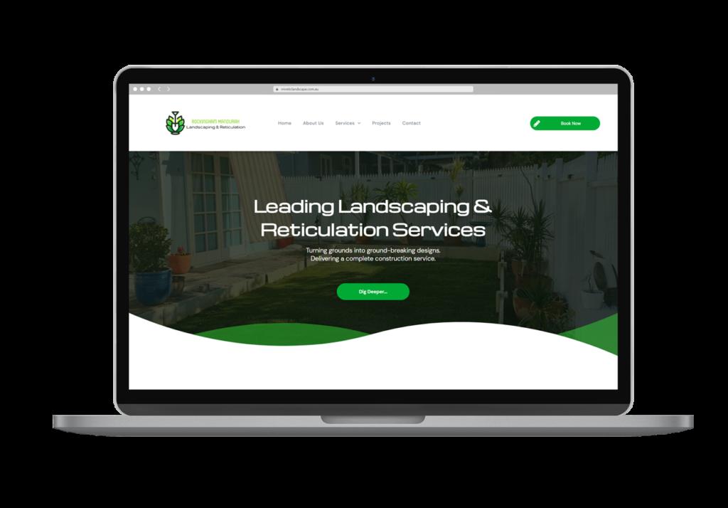 Rockingham Mandurah Reticulation Landscaping Website Design Laptop View Rogue Web Design
