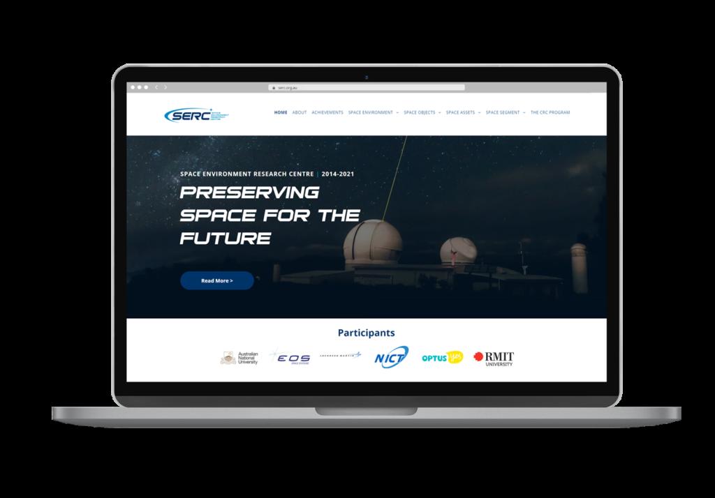 Space Environment Research Centre Serc Website Design Laptop View By Rogue Web Design